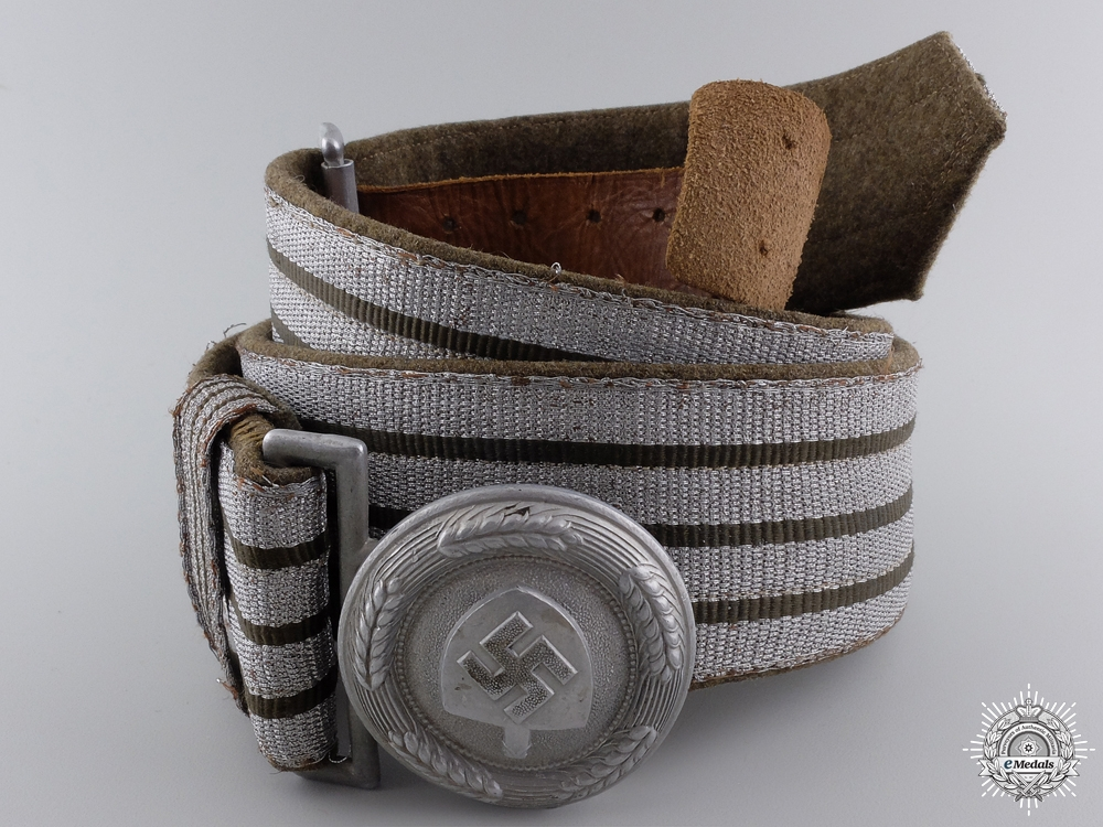eMedals-An RAD Officer's Brocade Belt and Buckle