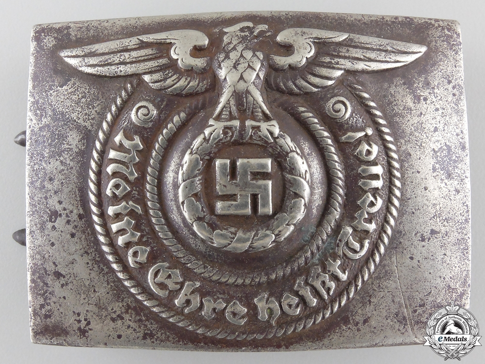 eMedals-An SS Belt Buckle by Overhoff & Cie, Ludenscheid