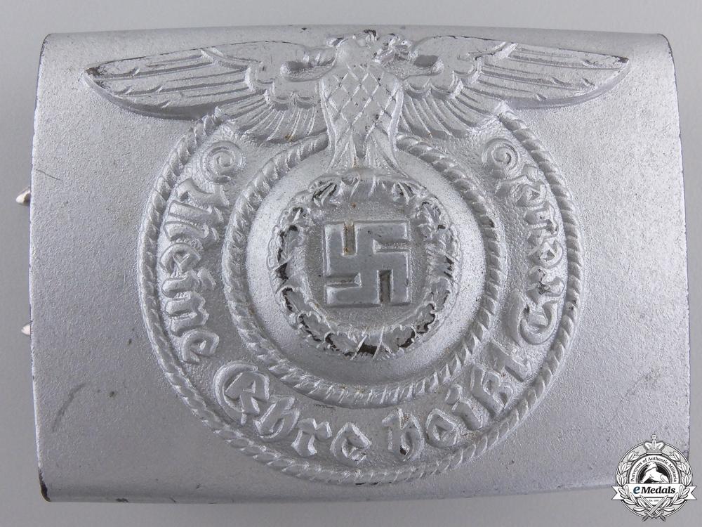 eMedals-An SS EM/NCO'S Belt Buckle by Assmann 1940; Type 1