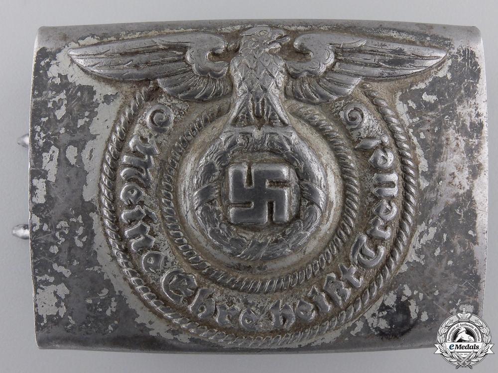 eMedals-An SS EM/NCO's Steel Belt Buckle by  Overhoff & Cie