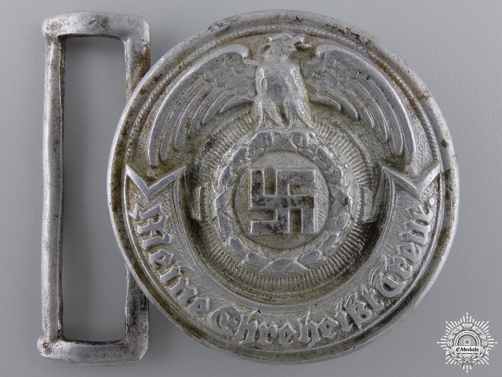 eMedals-An SS Officer's Belt Buckle by Overhoff & Cie, Ludenscheid