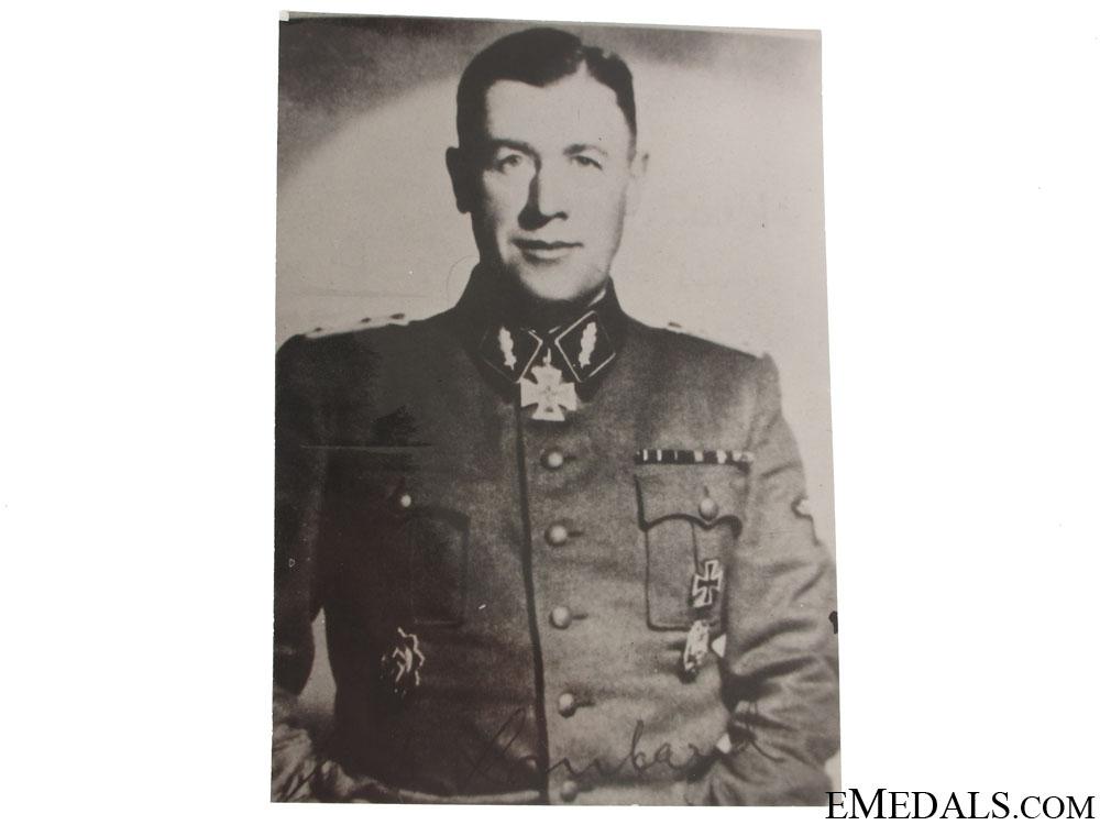 eMedals-A Waffen SS Gen. Maj. KC Winner Signed Photograph