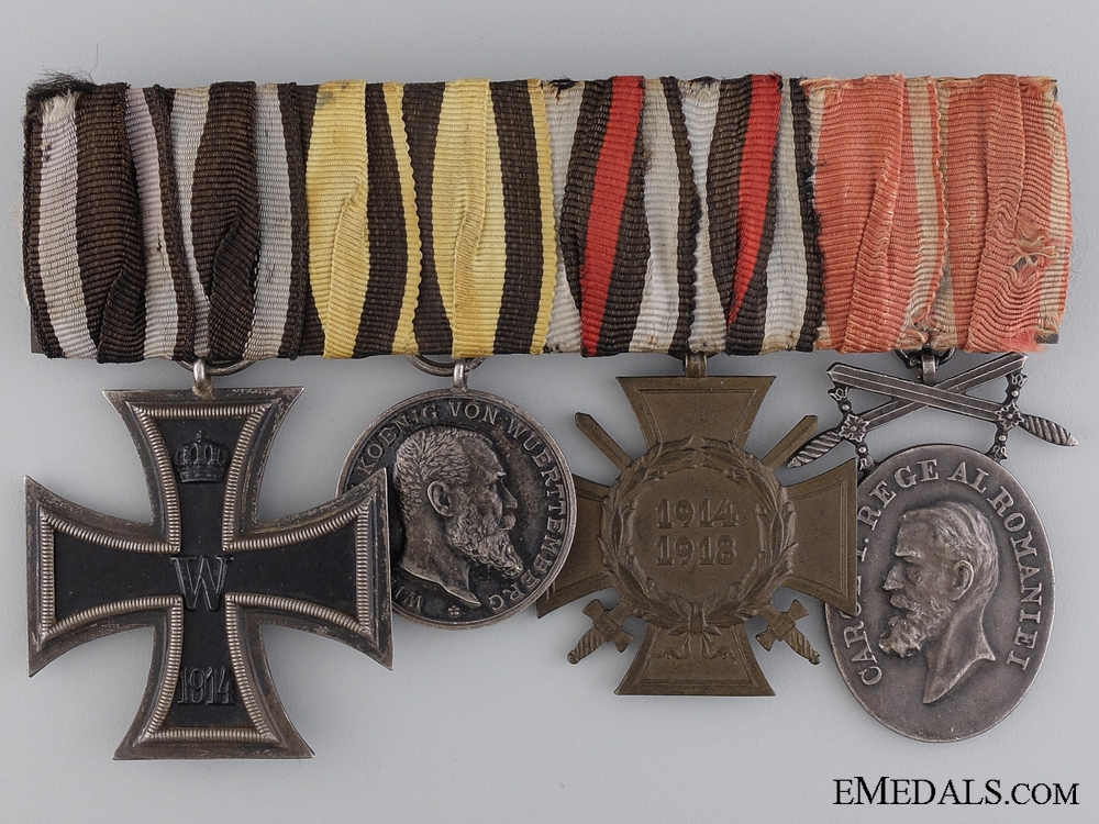 eMedals-An WWI Iron Cross & Bulgarian Medal Group; Marked Paul Hossauer