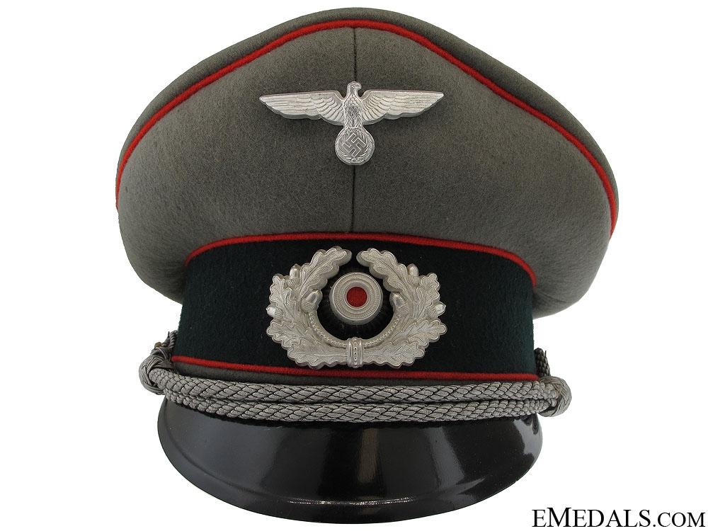 eMedals-Army (Heer) Flak Officer's Visor Cap