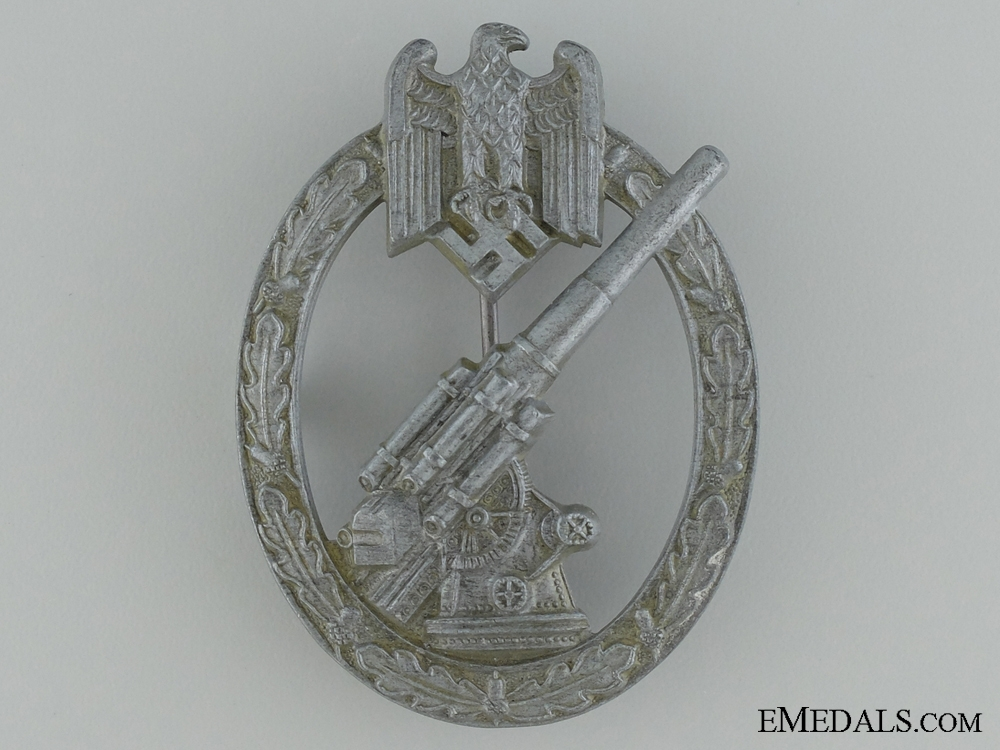 "eMedals-Army Flak Badge; Very Rare ""Pillow-Crimp"" Version"