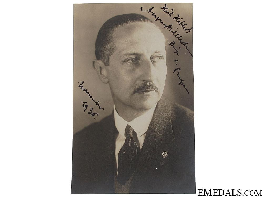 eMedals-August Wilhelm Prinz Von Preussen Signature