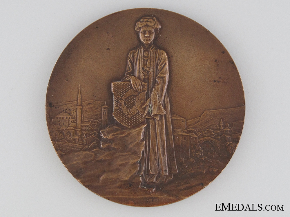 eMedals-Austrian Franz Joseph Imperial Visit to Bosna-Herzegovina Commemorative Table Medal, 1910