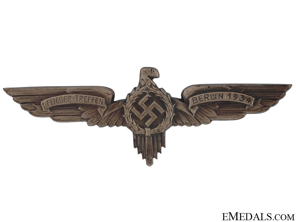 eMedals-Aviators Meeting Badge - Berlin 1934