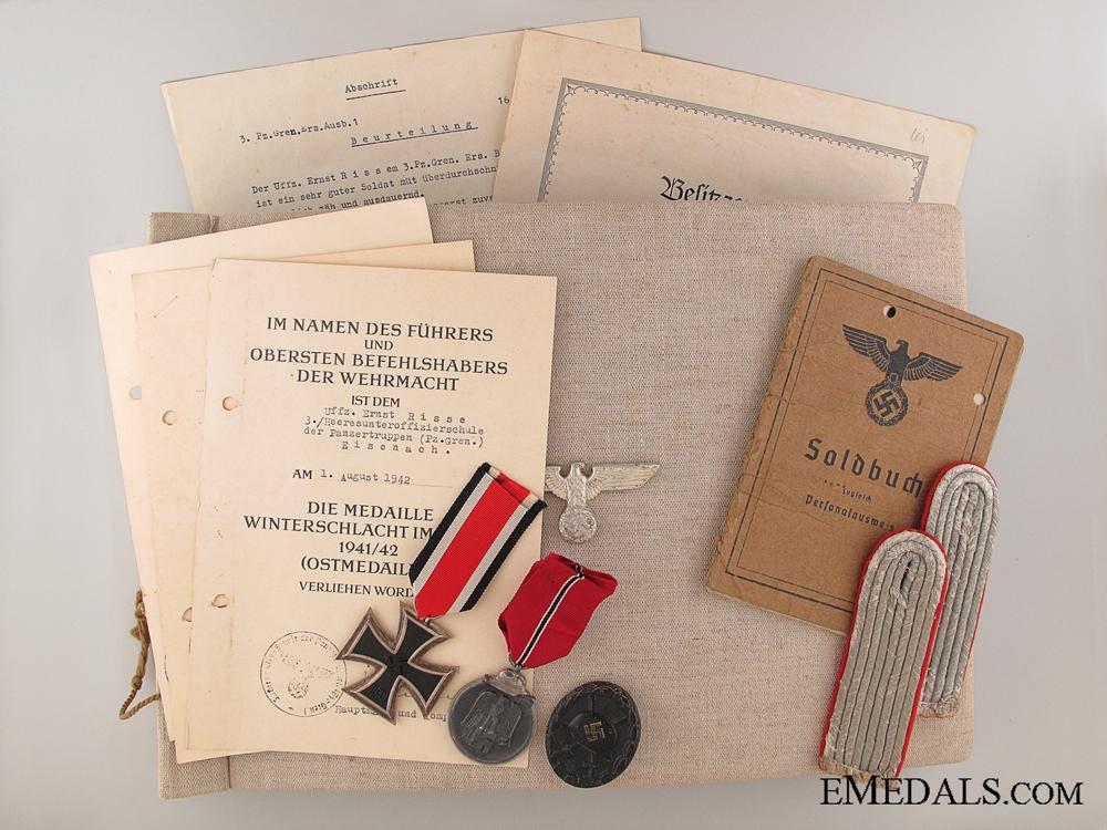 eMedals-Awards & Documents to the 3./panzerGren.- Ers.Btl 1