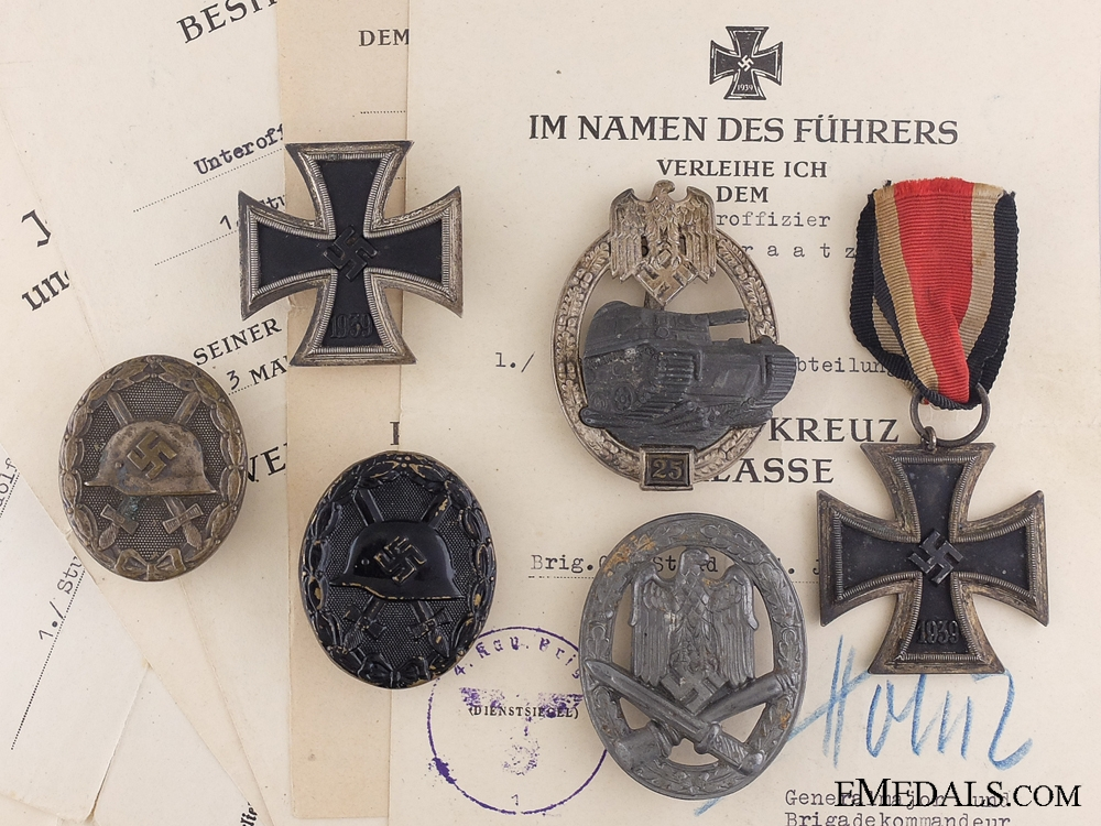 eMedals-Awards to the 70th Panzer Jaeger Division; Wounded at Kursk