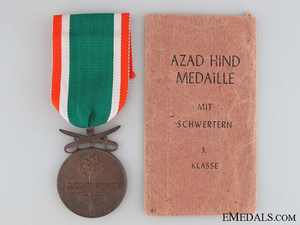 eMedals-Azad Hind; 3rd Class with Swords 1942-1945 with Packetof Issue