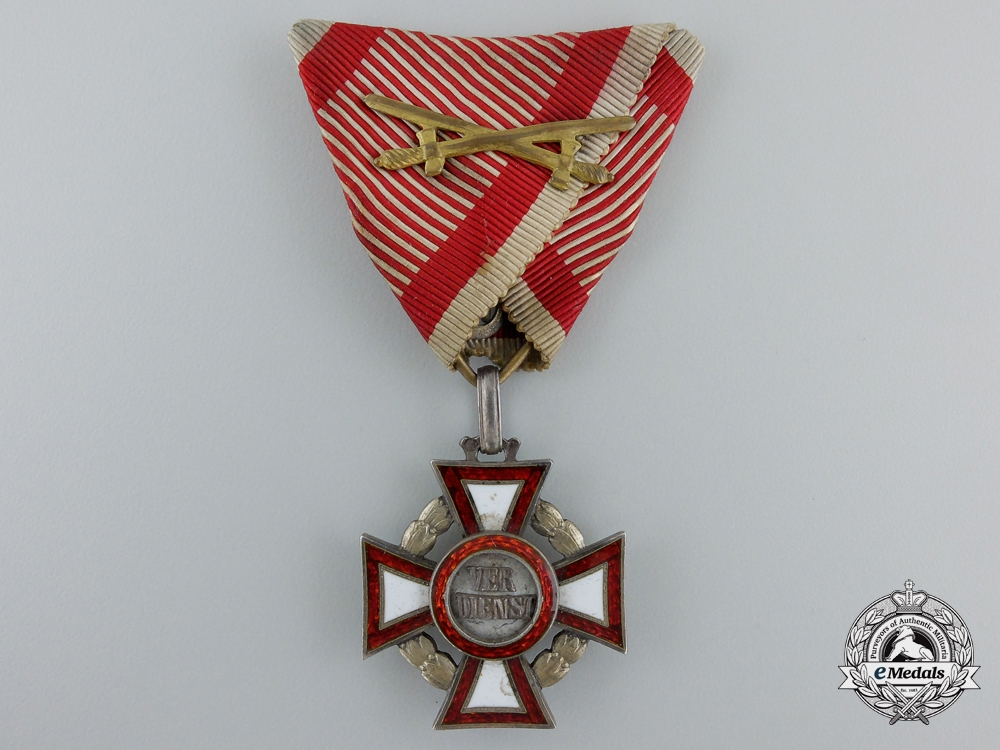 eMedals-An Austrian Military Merit Cross with War Decoration by V.Mayer