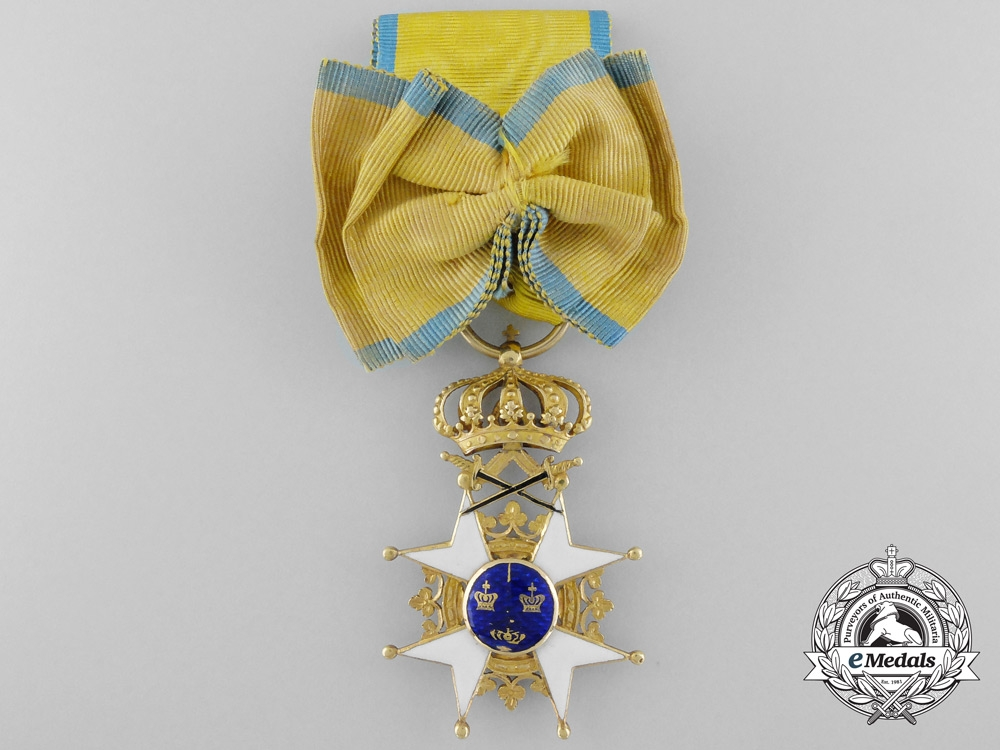 eMedals-A Napoleonic Period Swedish Order of the Sword in Gold c.1815