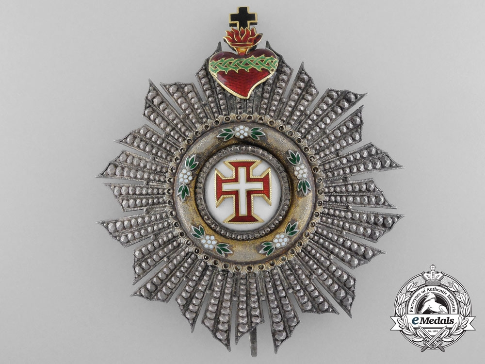 eMedals-A Portuguese Order of the Christ; Grand Cross Breast Star by Lemaitre 1901-1918