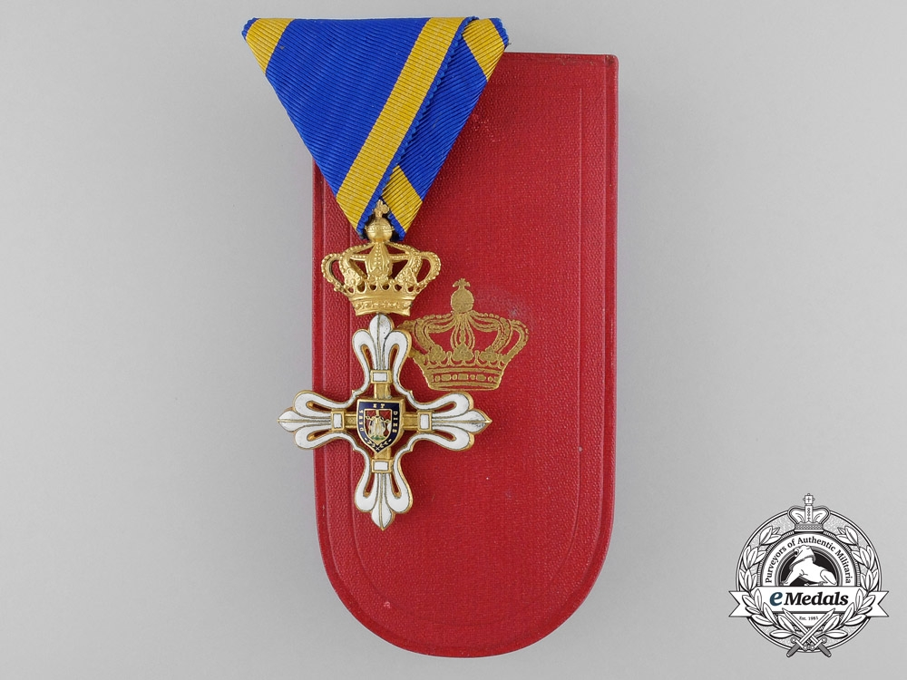 eMedals- A Fine Duchy of Parma Civil Merit Order of St. Louis in Gold; Knight 3rd Class with Case