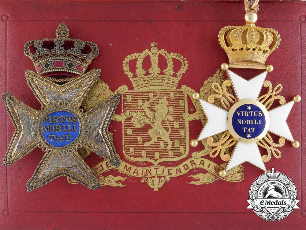 eMedals-An Exquisite Order of the Dutch Lion; 2nd Class Knight Commander with Case c.1850