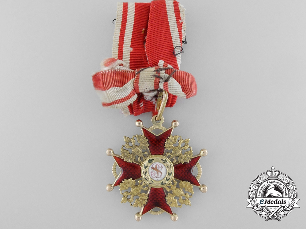 eMedals-An Imperial Russuan Order of St. Stanislaus in Gold; Third Class by Eduard