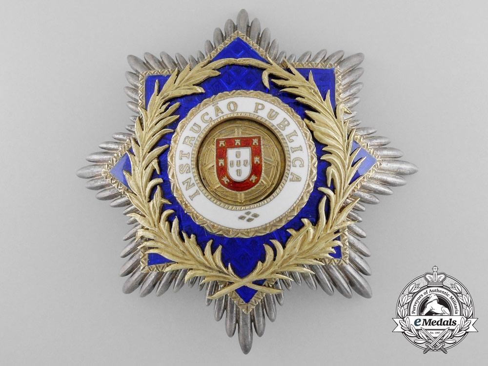 eMedals-A Portuguese Order of Public Instruction; Breast Star