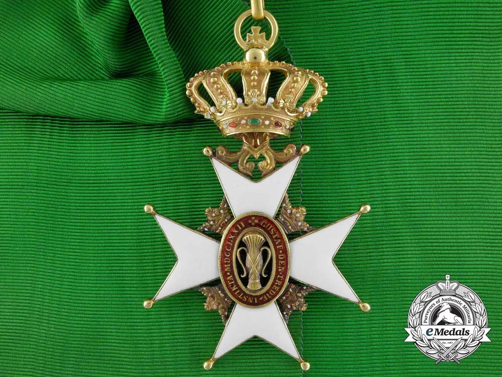 eMedals-Sweden, Kingdom. An Order of Vasa in Gold, Grand Cross Badge