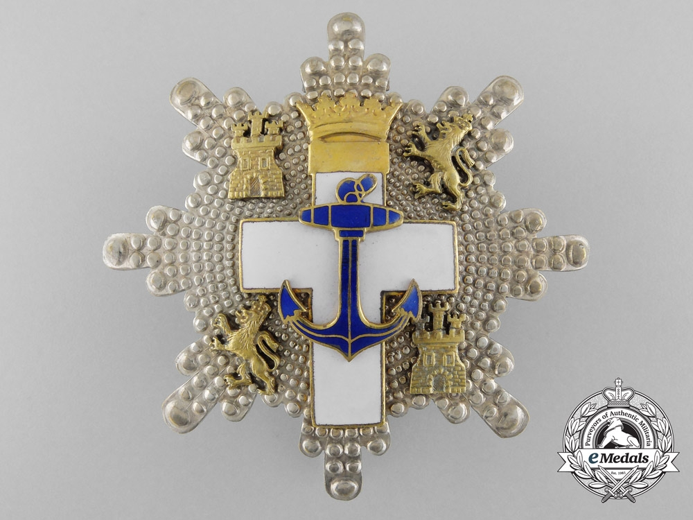 eMedals-A Spanish Order of Naval Merit; 2nd Class Cross with White Distinction 1938-1975