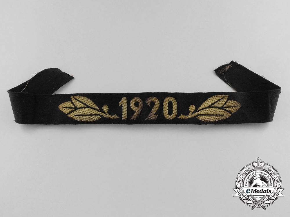 eMedals-A TeNo Honor Year Band 1920 (Cufftitle)