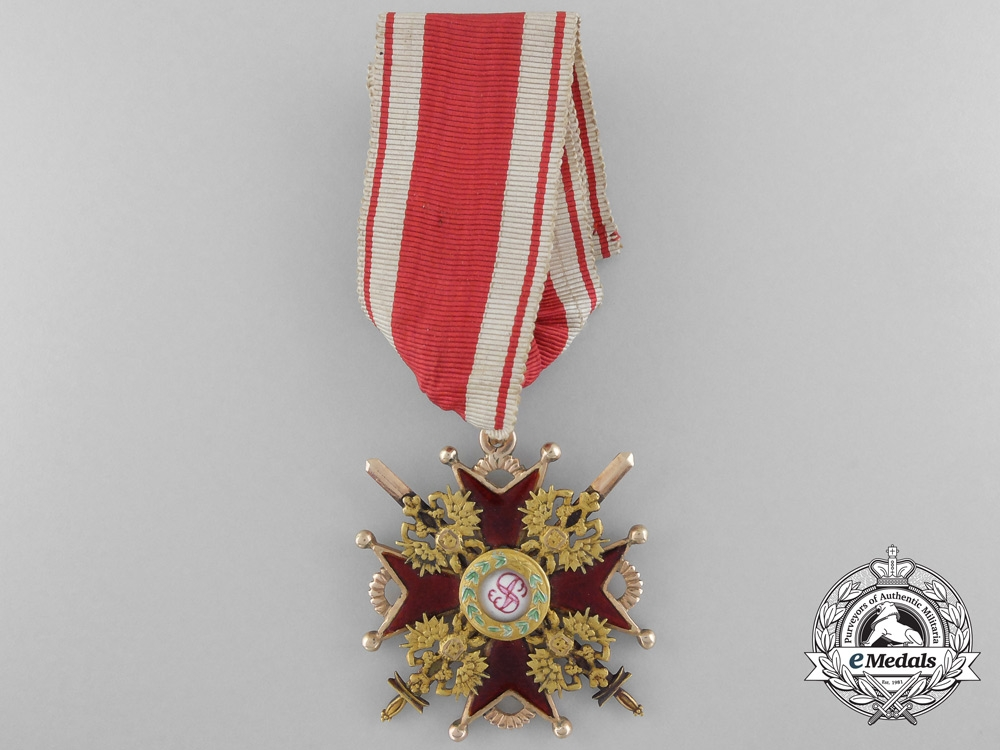 eMedals-A Russian Imperial Order of St. Stanislaus in Gold; 3rd Class by Albert Keibel