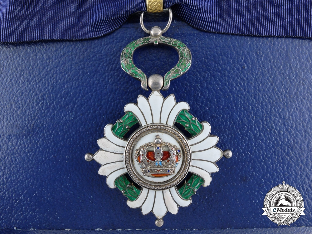eMedals-Yugoslavia, Kingdom. An Order of the Crown, Third Class Commander with Case