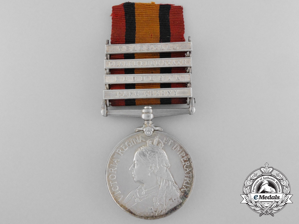 eMedals-A Queen's South Africa Medal to Private Frederick Cunning; North-West Mounted Police & Lord Strathcona's Horse