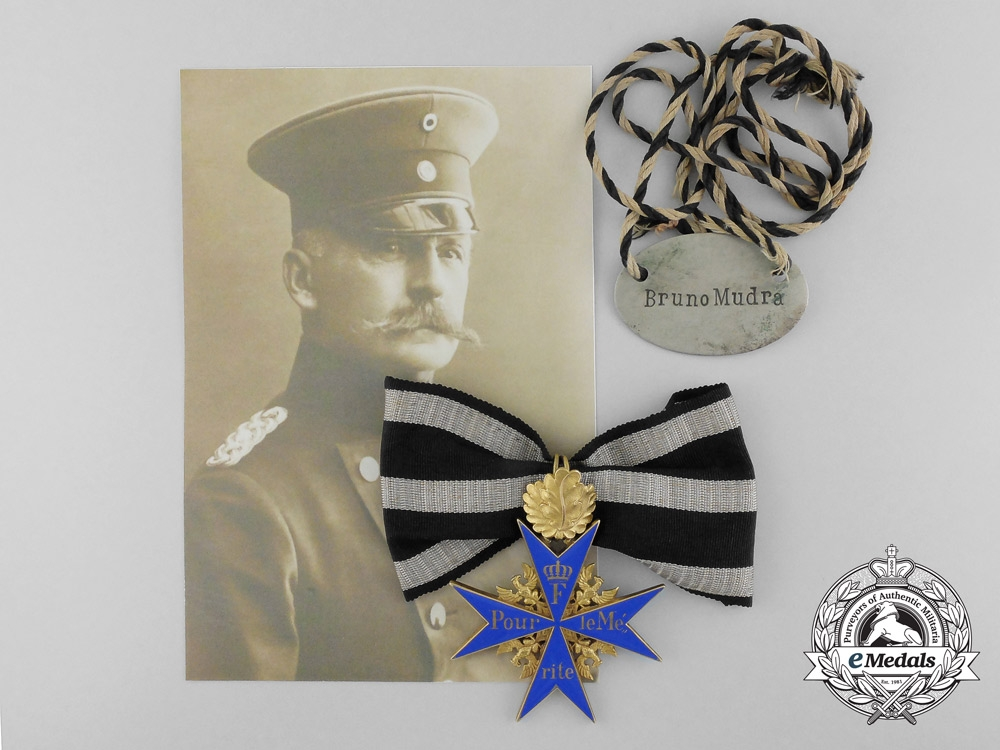 eMedals-The Pour le Mérite with Oak Leaves of General Bruno von Mudra, Commander of the XVI Army Corps