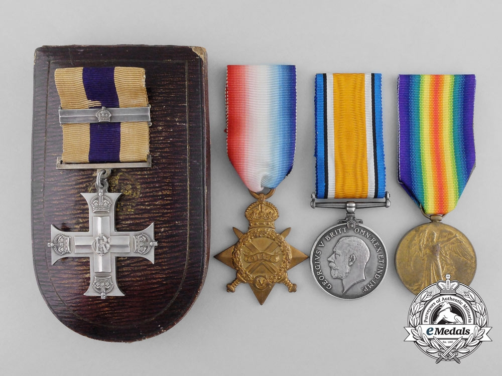 eMedals-A Military Cross & Bar to Acting Major George Barnes for Front line 1916 Actions outside Neuvelle Ste. Vaast
