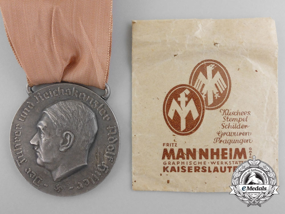 eMedals-A Rare Large District Ludwigswinkel Mayor's Medal by Fritz Mannheim