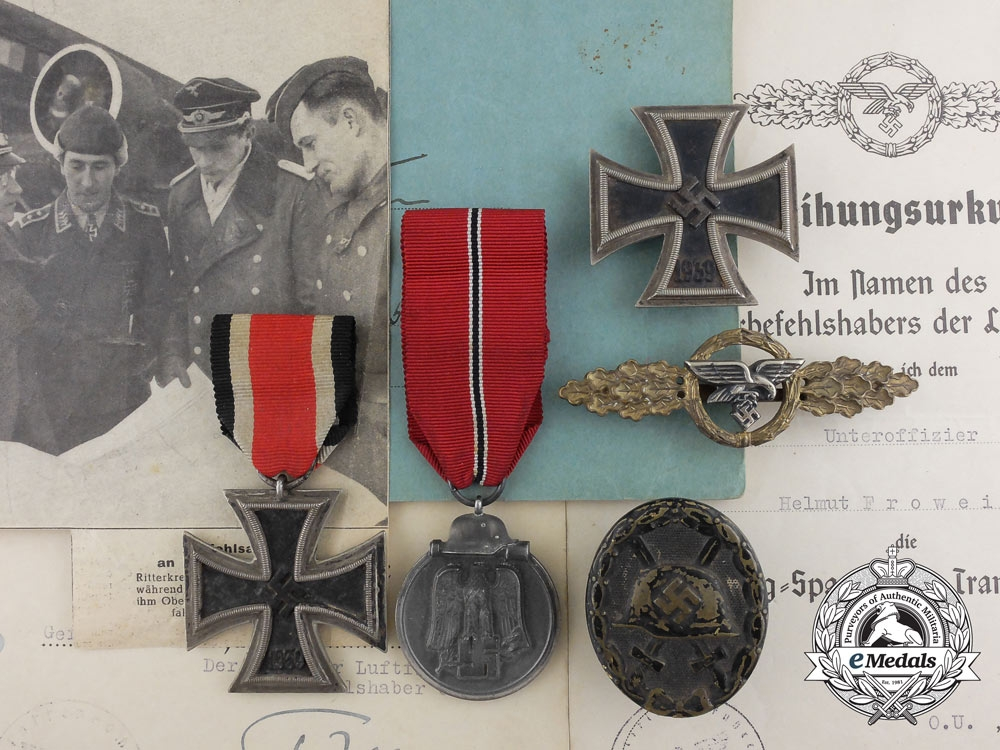 eMedals-The Awards & Flugbuch of Unteroffizier Frowein; Stalingrad Evacuation Pilot