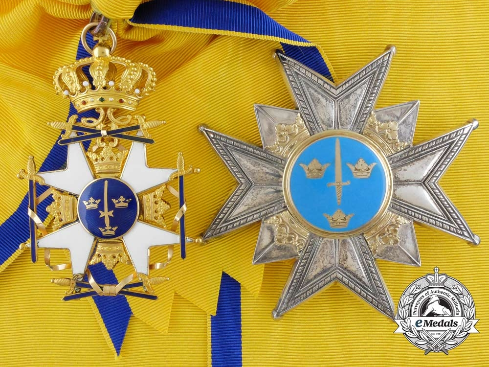 eMedals-Sweden, Kingdom. An Order of the Sword in Gold, by C.F. Carlman, c.1969