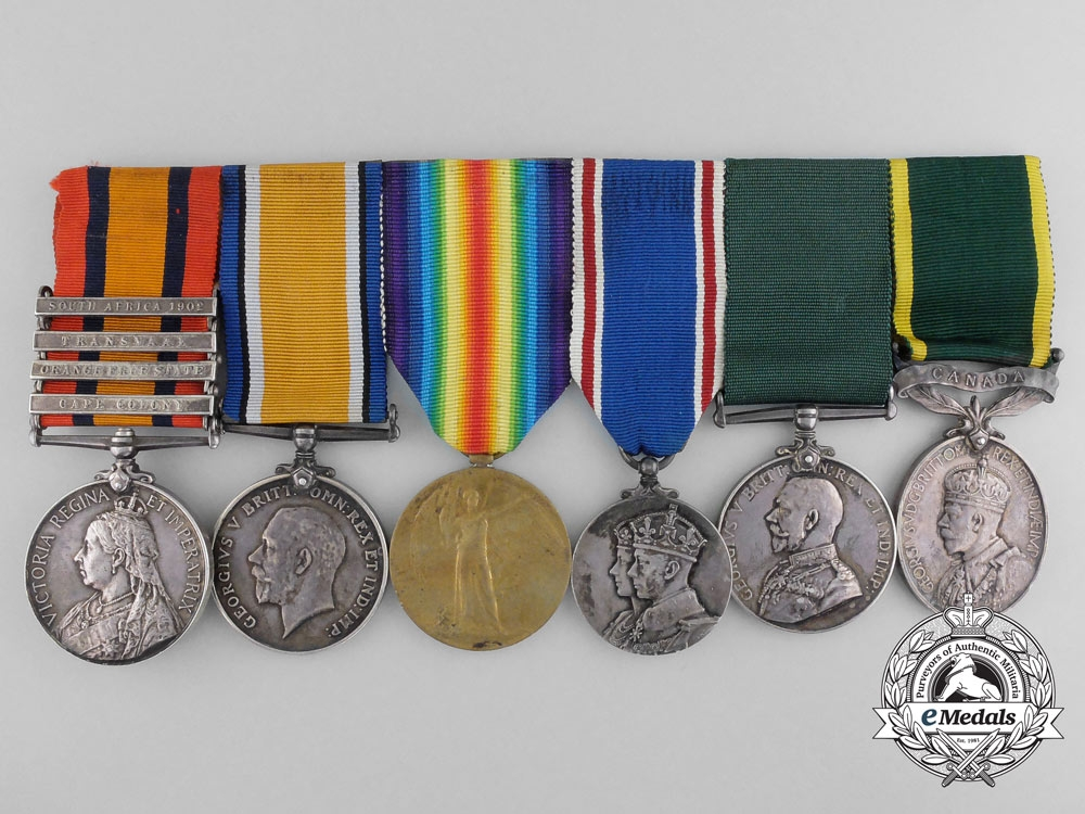 eMedals-A Fine Grouping to Acting Regimental Sergeant Major Neville; North Hampshire; 91st Battalion & Elgin Regiment