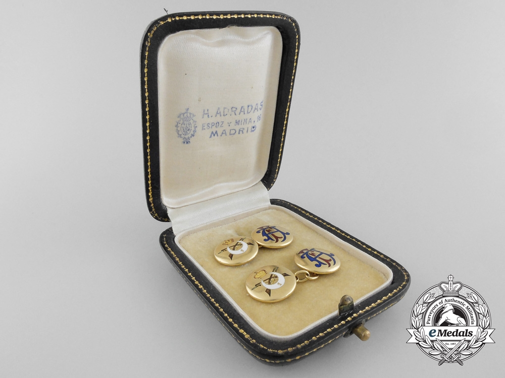 eMedals-Spain, Franco Period. A Pair of Cufflinks Attributed to Spanish General Fernández Silvestre