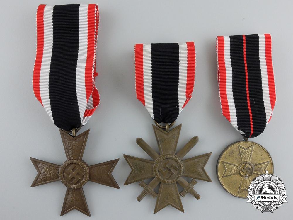 eMedals-Three Second War German War Merit Awards