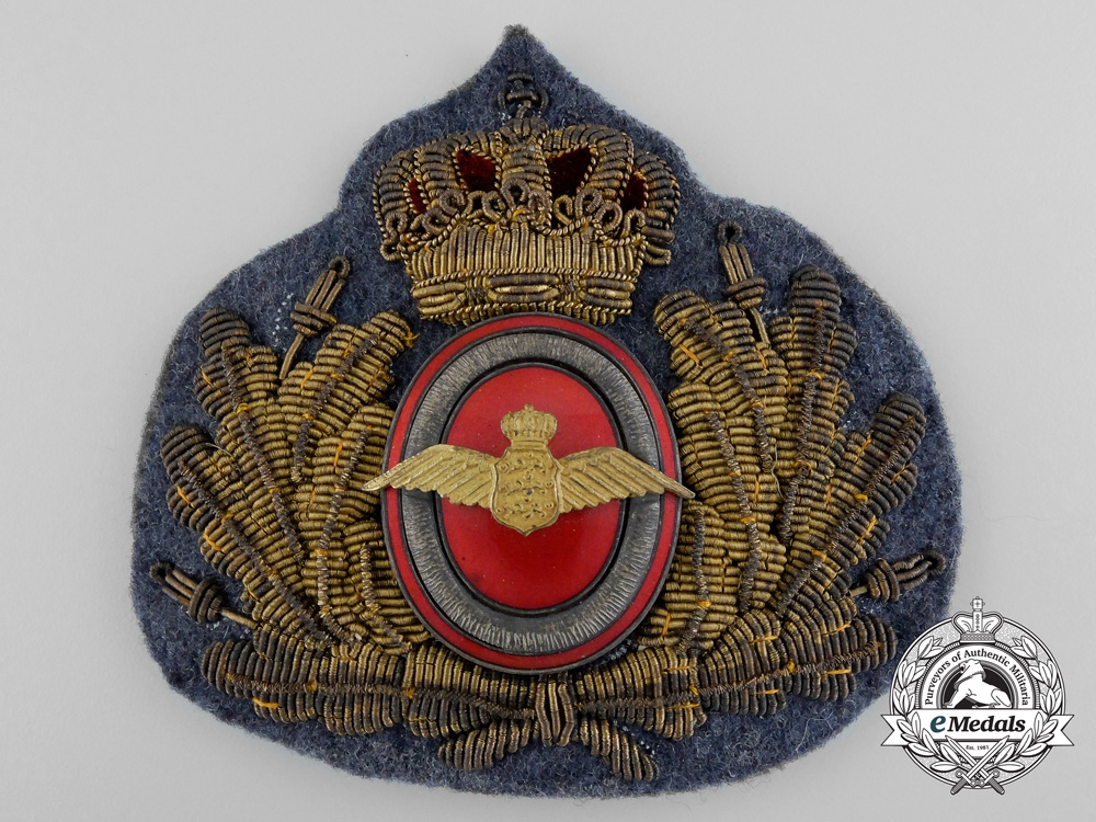 eMedals-A Second War Danish Air Force Cap Badge c.1939