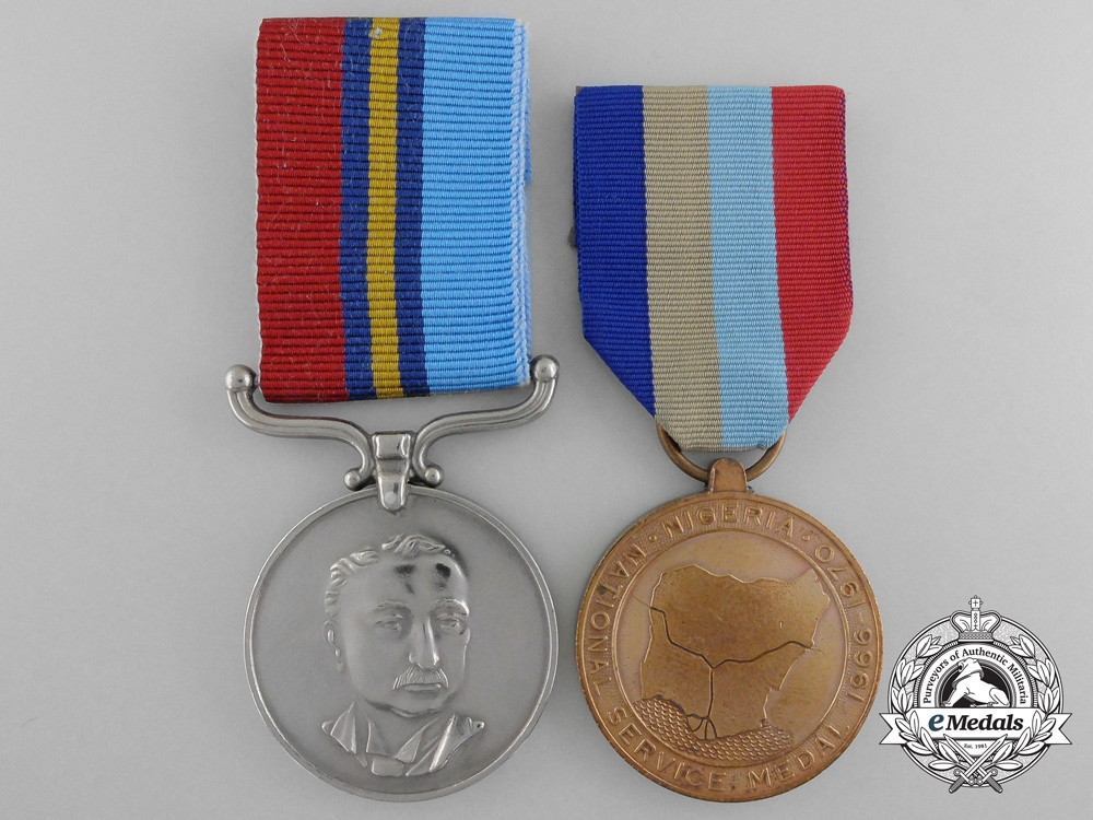 eMedals-Two Service Medals; Nigeria & Rhodesia