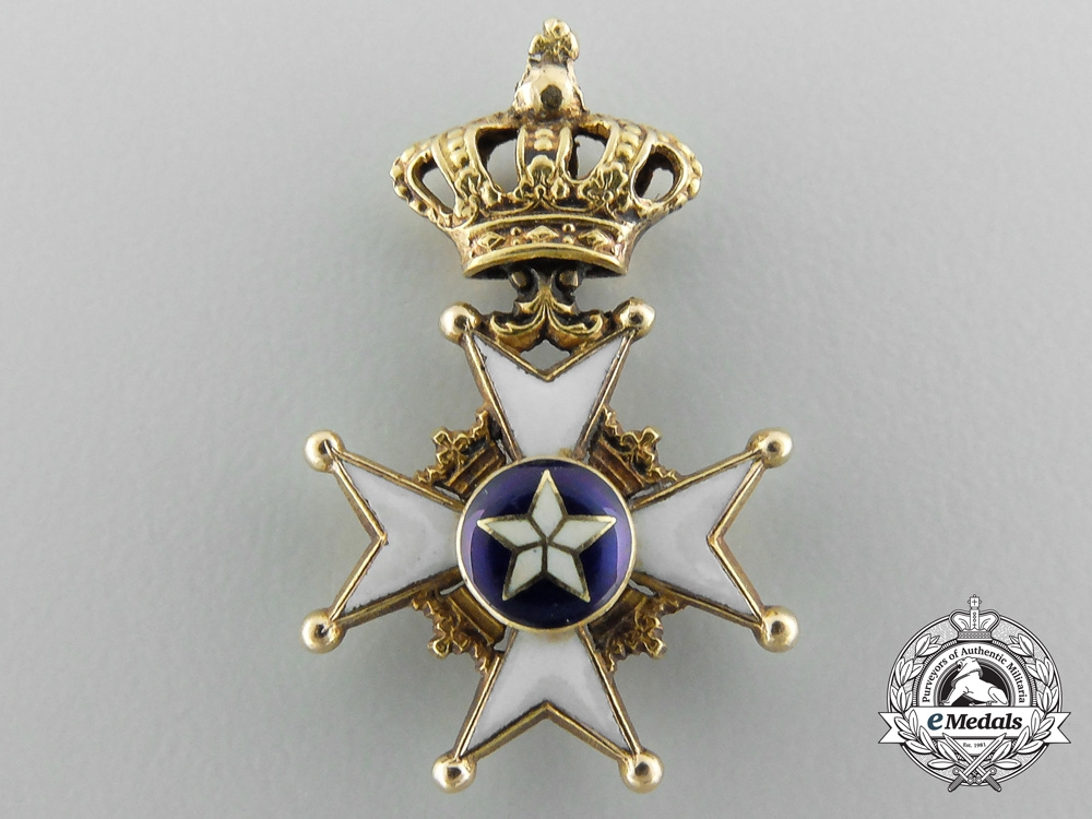 eMedals-A Miniature Swedish Order of the North Star in Gold