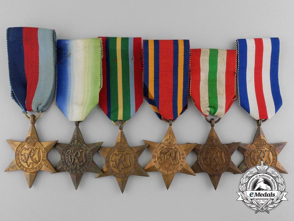 eMedals- Six Second War Campaign Stars