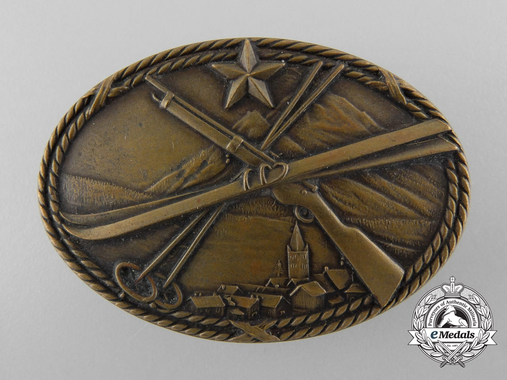 eMedals-A French 1940 SES 2nd Infantry Battalion Skier-Scout Badge