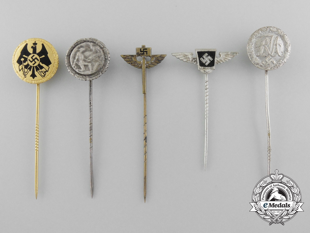 eMedals-Five Second War Period German Stickpins
