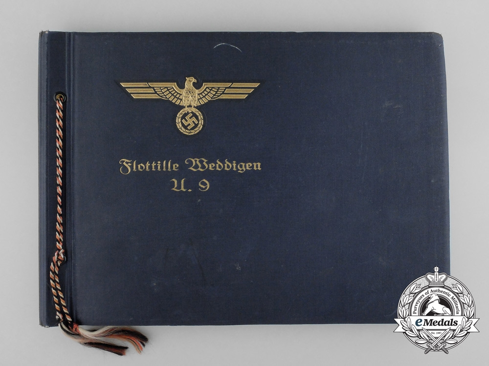 eMedals-A Kriegsmarine Flotilla Weddigen U-Boot 9 Photo Album