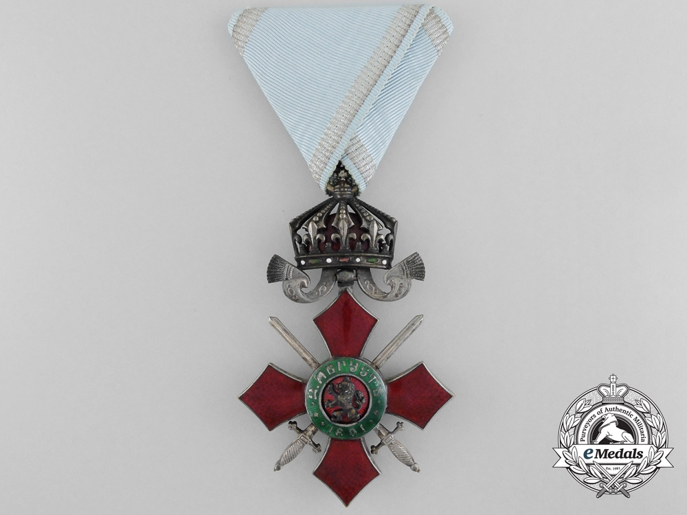 eMedals-A Bulgarian Order of Military Merit; Knight