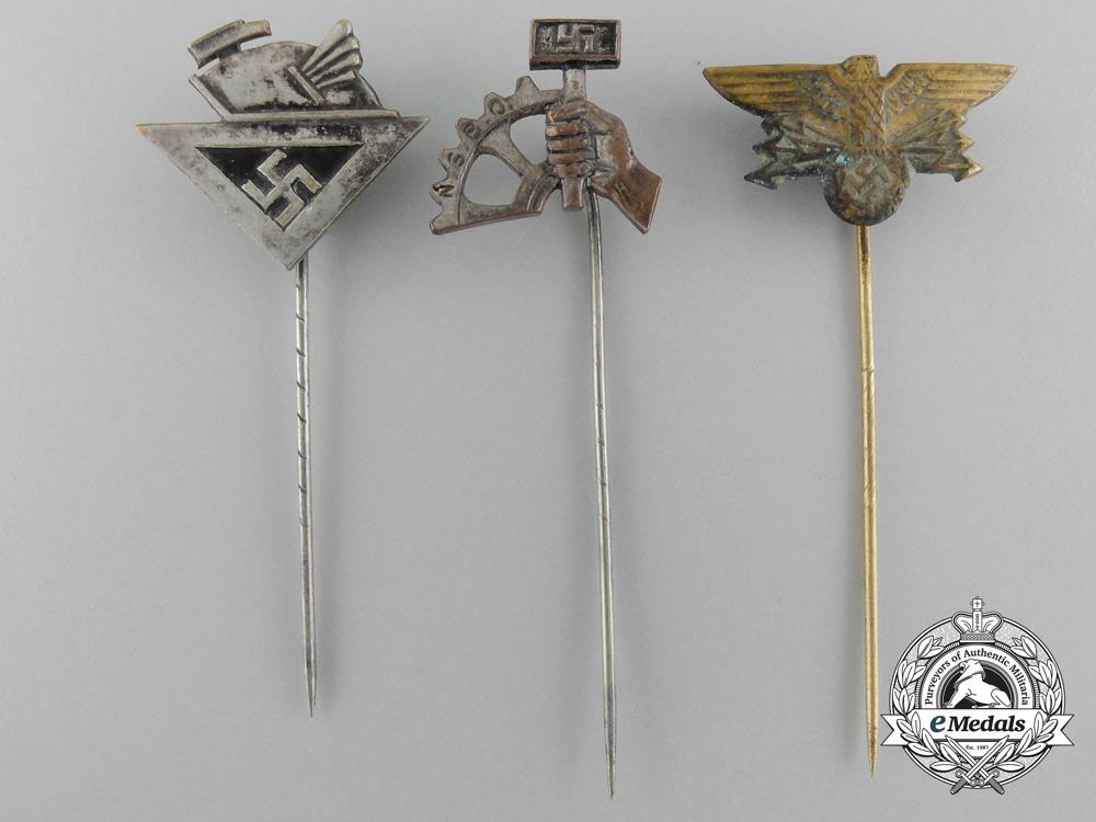 eMedals-Three Second War Period German Stickpins