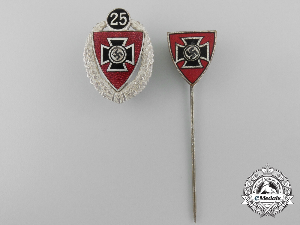 eMedals-Two German Veteran Organization Stickpins