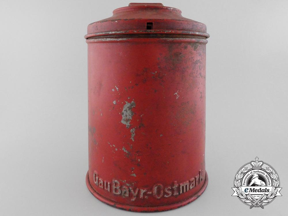 eMedals-A Rare NSDAP Winterhilfswerk Donation Tin