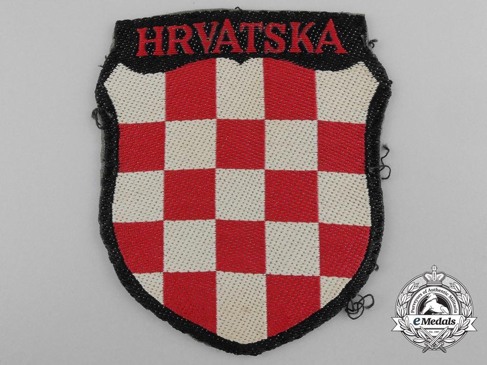 eMedals-A Uniform Removed Croatian Volunteer Shield; 369.th (Kroat) Regiment