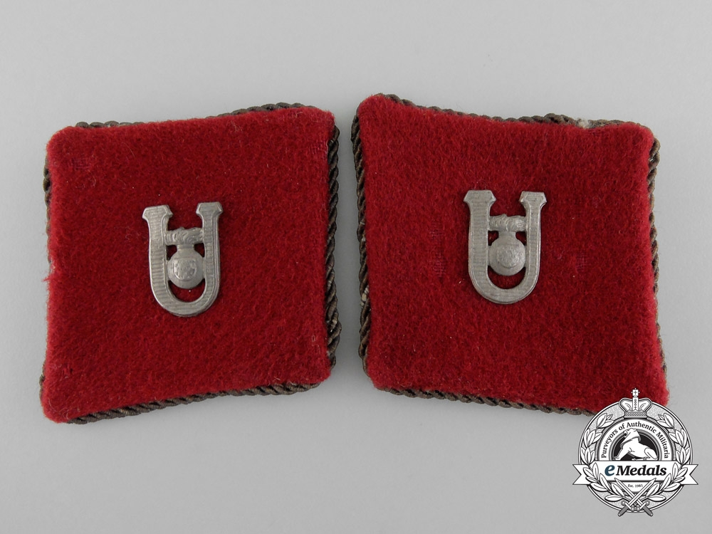 eMedals-Croatia, Independent State. A Set of Ustaša Officer Collar Tabs