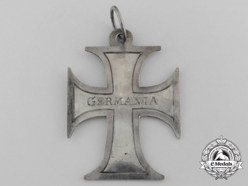 eMedals-Germany. An Unusual Napoleonic German Cross in Silver